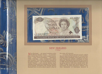 Most Treasured Banknotes New Zealand 1981-85 1 Dollar  UNC P 169a  Prefix ACK
