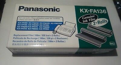 Genuine Panasonic Ink Film KX-FA136 FAX Replacement Cartridge ONLY 1 Roll