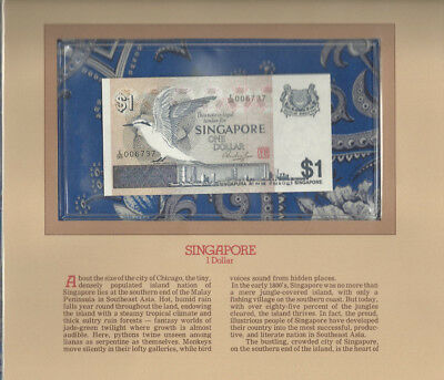 Most Treasured Banknotes Singapore 1976 1 Dollar P-9 GEM UNC Low # E/99 006737