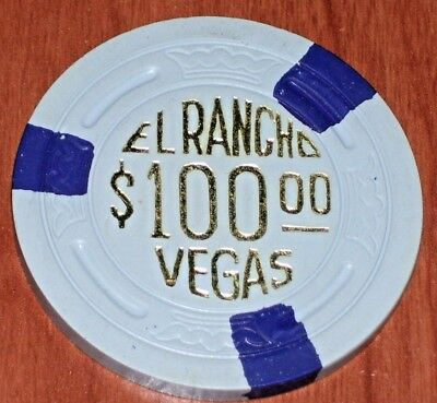 $100 Vintage 1982 Reproduction  Chip From The El Rancho Vegas Casino Las Vegas