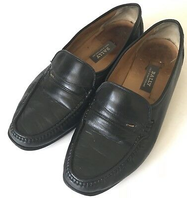 a052de386a3 Bally Switzerland Loafers Womens Shoes Size 6.5 Black Leather Slip On Casual
