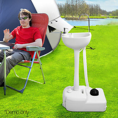 Camping Portable Sink Wash Basin Stand Food Event Building 19L Water @TOP