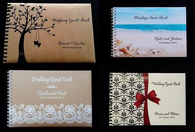 Larger Size Personalised Guest Book in Any Printed Design   (18.5cm x 26.5cm)