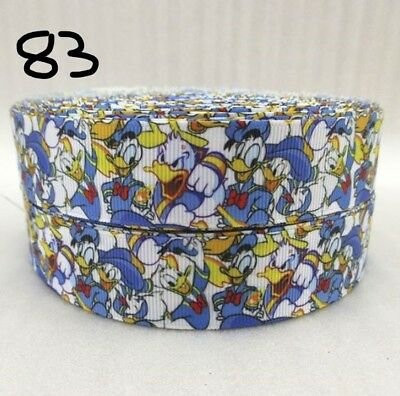 Grosgrain Ribbon Donald Duck Disney 25mm (1m, 2m or 5m)