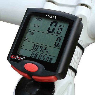 New Wireless Bike Cycling Bicycle Cycle Computer Odometer Speedometer Backlight