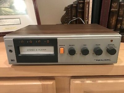 Realistic 14-943 Cassette Players 8 Track Stereo Model Vintage with 38 Tapes