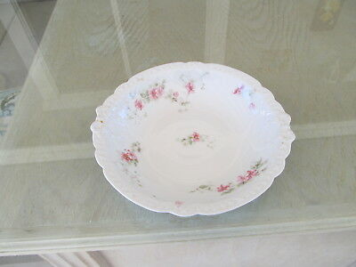 "HAVILAND GOA LIMOGES FRANCE Round Serving Bowl  9.5"" Floral."