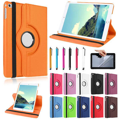 "PU Leather 360° Degree Rotating Case Cover Apple iPad 6 6th Generation 9.7"" 2018"
