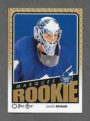2009-10 O-Pee-Chee Marquee Rookie JAMES REIMER #782 09-10 opc RC