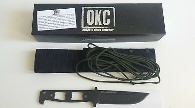 "NEW Ontario Vulpine Fixed Blade 4.77"" 6518 Tactical Knife Plain Edge w/Sheath"