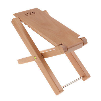 Foldable Wooden Guitar Foot Rest Stool Pedal Guitar Performance Parts Wood