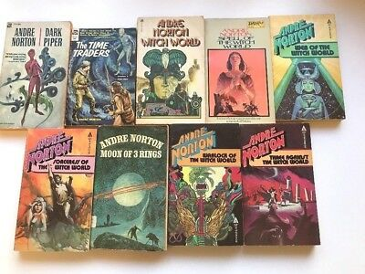 Lot of 9 Vintage Andre Norton Science Fiction Novels Time Traders Witch World