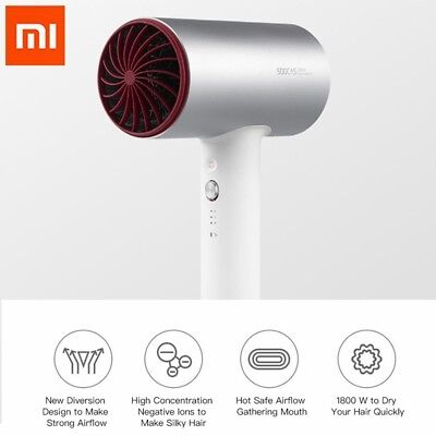 Xiaomi Mijia SOOCAS H3 Electric Hair Dryer Negative Ions Quick Drying 1800W