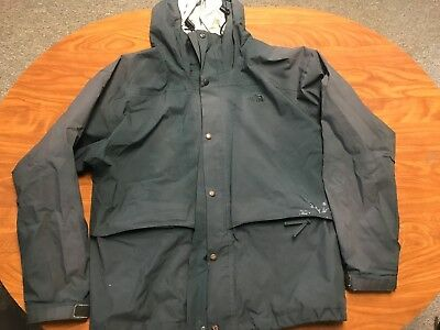 Mens Vintage Distressed The North Face Gore Tex Dark Green Hooded Jacket Size Xl