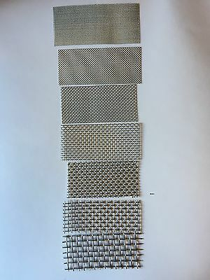 """7pc. Stainless Steel 304 Mesh #30,20,14,10,8,6,4 Wire Cloth Screen 12""""x12"""""""