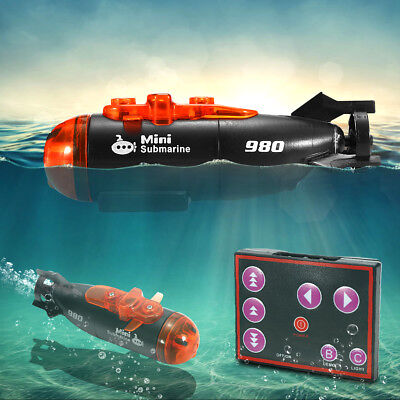 Remote Control Mini Micro Racing Submarine Boat With LED Light RC Toy Kids Gift