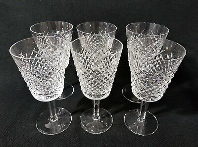 """WATERFORD ALANA Water Globets Wine Glasses 7"""" Set of 6"""
