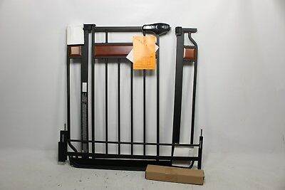 Regalo Home Accents Safety Gate, Black 0310 DS - Preowned