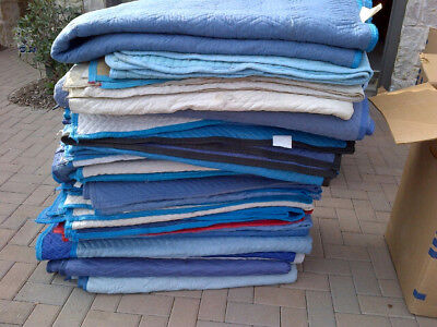 """HEAVY DUTY PREMIUM 80"""" x 72"""" QUILTED MOVING BLANKETS/PADS"""