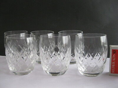 crystal sherry glasses small six