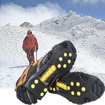 LC_ 10-stud Glace Neige Chaussure Housse anti-dérapant CRAMPONS prise ESCALADE
