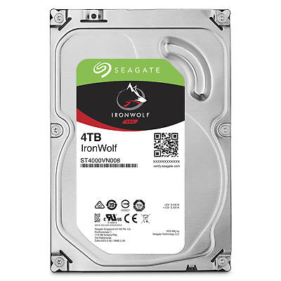 "Seagate IronWolf 4 TB ST4000VN008  Internal 5900 RPM 3.5"" Hard Drive -NAS"