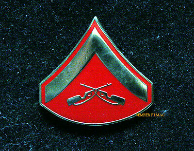 Lance Corporal Lcpl Hat Lapel Pin Us Marines Veteran Promotion Gift Enlisted E3