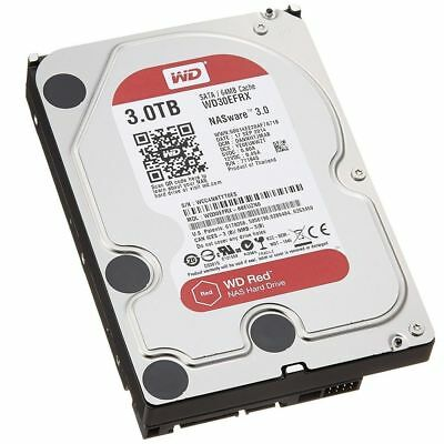 "Western Digital WD30EFRX NAS 3.5"" : 3TB RED, SATA3 6Gbs 64MB Intellipower"
