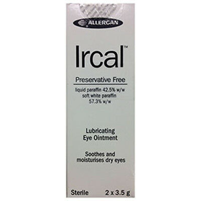 NEW Ircal Lube Eye Ointment 2 x 3.5g