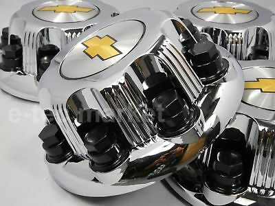 "1x Chevy Chevrolet SILVERADO 2500 16"" 8 LUG WHEEL CHROME HUB CAPS CENTER CAPS"