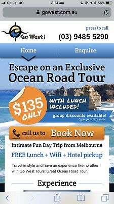 Great Ocean Road day Tour For 2