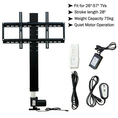 "LCD Motorised  TV Stand Lift Mount Bracket Stroke 700mm for 26""-57"" TV Cabinet"
