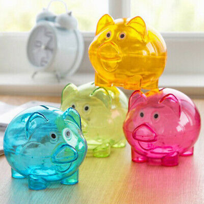 Lovely Plastic Piggy Bank Pig Cash Coin Money Saving Box Children Toy Kids Gifts