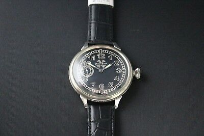HELVETIA Vintage 1910`s SILVER Military Style GRAND PRIX Men Swiss Wrist Watch