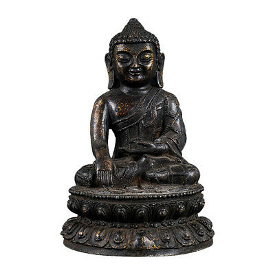 Fine Old Chinese Antiques Bronze Hand-carved Buddha Statue Seat Sculpture SS109