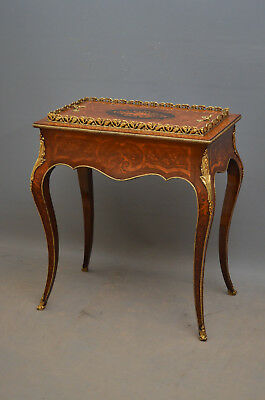 French Rosewood and Inlaid Jardiniere Plant Stand