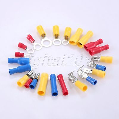 480PCS Assorted Insulated Electrical Connectors Crimp Terminals with Case