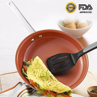 """Hommate 9"""", 10.5"""" and 12"""" Ceramic Nonstick Frying Pan Non Toxic Oven Save"""