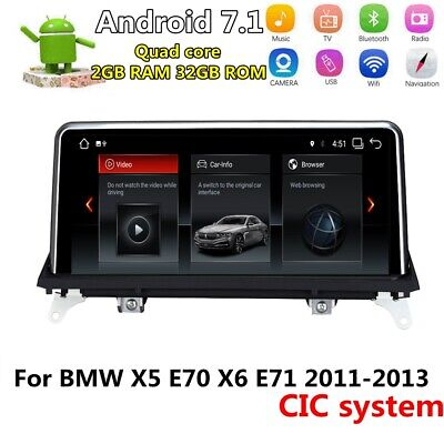 """10.25"""" Android Car GPS Radio Player For BMW X5 X6 E70 E71 2011-2013 CiC System"""