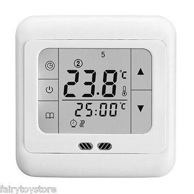 LCD Smart Programmable Thermostat Heating Control Digital Weekly Mini Box 16A
