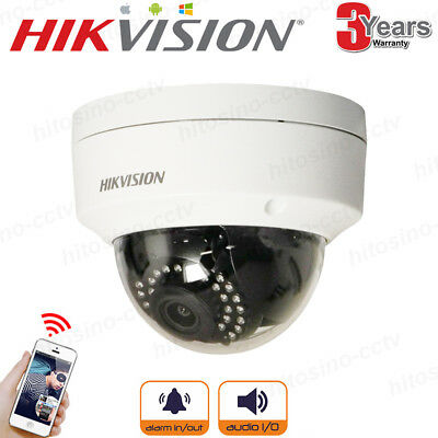 HIKVISION WIRELESS DS-2CD2142FWD-IWS 4MP POE IP CAMERA Built-in WIFI Audio Alarm