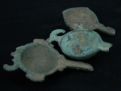 Ancient Bronze 3 Oil Fillers Roman 200 BC  #S4307