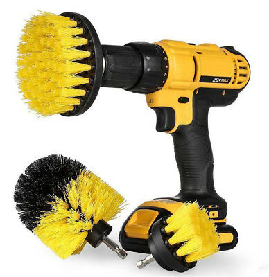 3PCS drill brush for Car Carpet wall and Tile cleaning MEDIUM DUTY(YELLOW) US