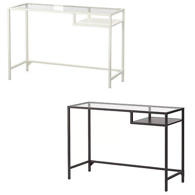 ikea vittsj laptoptisch in schwarzbraun wei glas. Black Bedroom Furniture Sets. Home Design Ideas