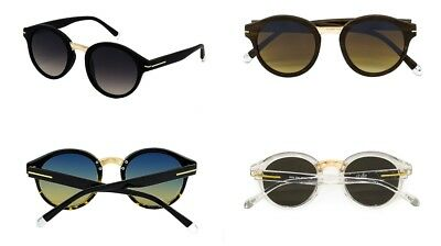 Stylle Round Sunglasses Unisex Gold Bridge Glasses Light Weight Pouch Included