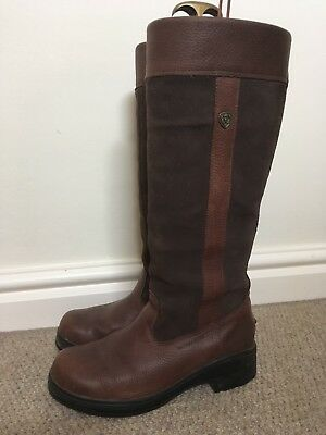 Ariat Windermere Boots Size 4.5, Regular Calf.  Brown.  Excellent Condition.