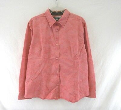 74c6b81acbf COLUMBIA Women's River Resort Button Down Long Sleeve Shirt Size L #H197