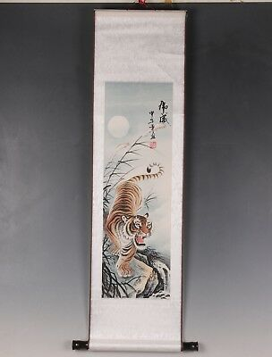 Chinese Classic Tiger Descent Picture Tiger Scroll Painting Realistic