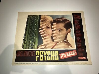 Psycho 1960 Directed By Alfred Hitchcock Janet Leigh Original Lobby Card
