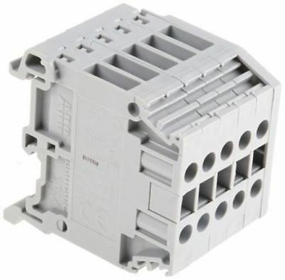 Entrelec Distribution Block, 4mm², 5 Way, 32A, 800 V, Grey